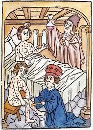 1498. Afbeelding uit Wenen, de behandeling van syfilis.
