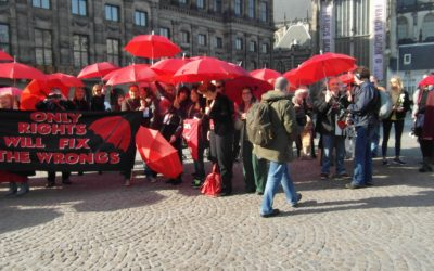 International Women's Day, Red Umbrella Flash Mobs to stress sex worker's rights