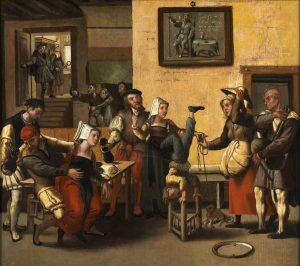 Brunswick Monogrammis. Rondtrekkende muzikanten in een bordeel.