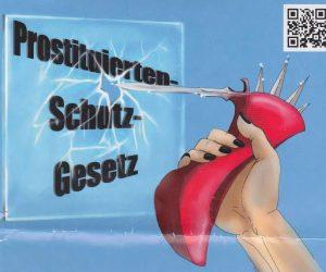 Uitsnede uit affiche tegen wetten op prostitutie van Duitse organisatie Dona Carmen