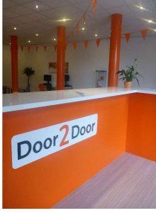 Het interieur van Door2Door aan de Rochussenstraat, Rotterdam