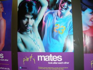 Party mates, safe sex campagne