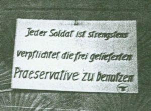 Duitse soldaten waren verplicht een condoom te gebruiken.