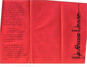 Blad 1 folder halverwege jaren tachtig