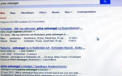 De werkplek: prostitutie via internet: de omvang: 2