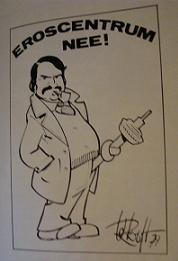 Spotrprent burgemeester Van der Louw