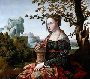 Jan van Scorel: Maria Magdalena gekleed als Italiaanse courtisane