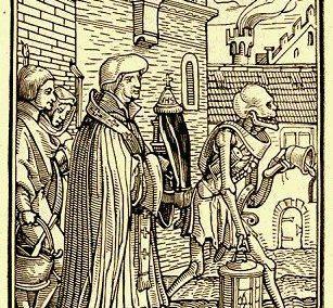 Straatbeeld in de late middeleeuwen