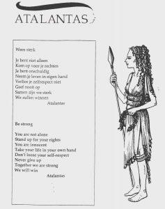 Folder van Atalantas: Wees sterk.