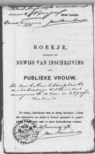 Registratieboekje uit Zwolle, 1876