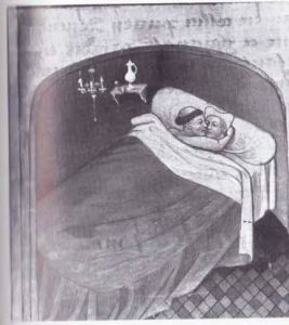 Geestelijke in bed met vrouw