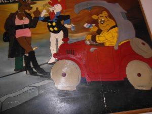 Schilderij, te vinden in het gebouw van SHOP, Den Haag.